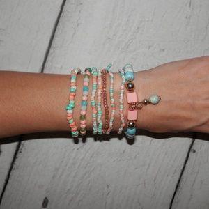 Jewelry - NEW 8 Stackable Boho Beaded Charm Bracelets Set